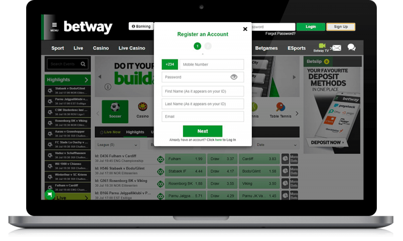 betway registration