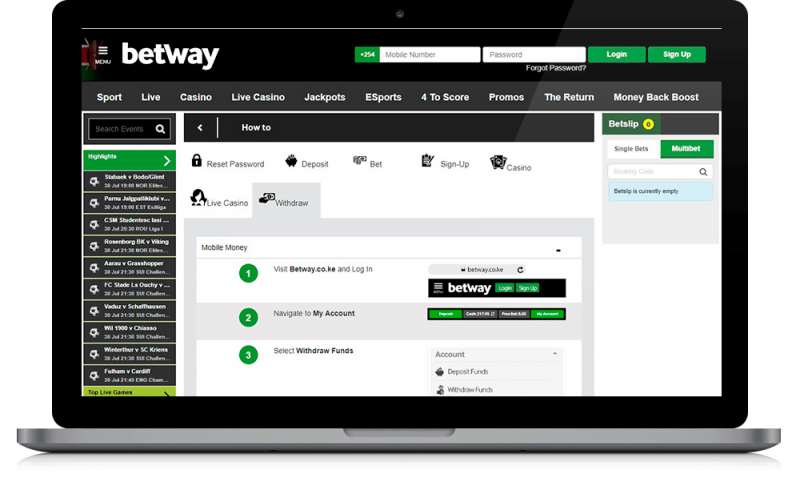 betway withdrawal